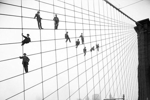 NYC Brooklyn Bridge Painters 1914